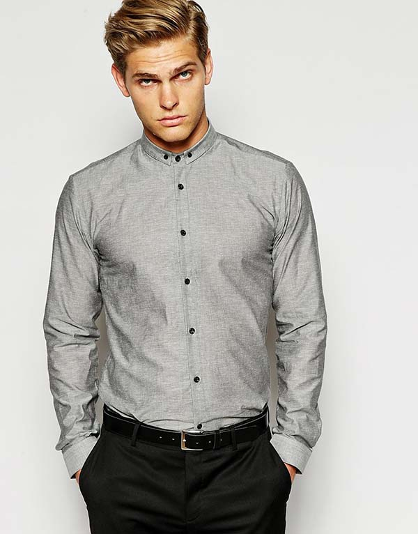 Hugo By Hugo Boss Shirt With Small Button Down Collar Lesa Henderson